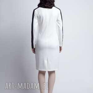 wstawki sukienki sukienka, suk115 ecru