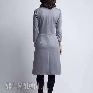 casual sukienki sukienka, suk116 szary