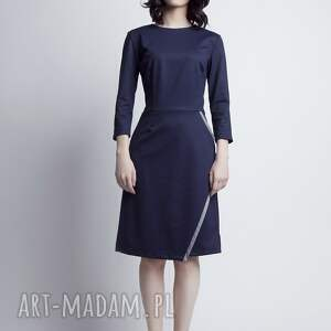 sukienki kopertowa sukienka, suk116 granat