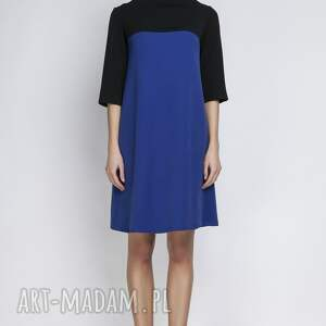handmade sukienki półgolf sukienka, suk121 indygo