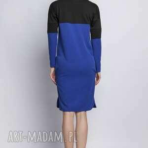 sukienki sukienka, suk107 niebieski