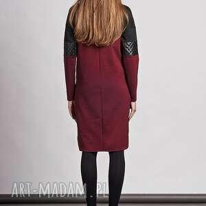 skóra sukienki sukienka, suk107 bordo