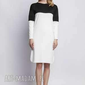 sukienki skóra sukienka, suk107 ecru