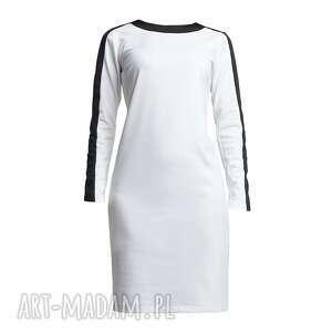 sukienki kontrast sukienka, suk115 ecru