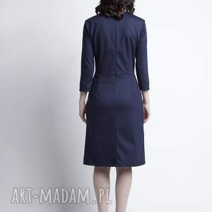 kopertowa sukienki sukienka, suk116 granat