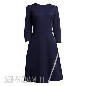 trendy sukienki zakładana sukienka, suk116 granat