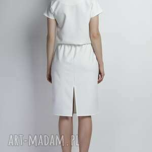 sukienki lamówka sukienka, suk119 ecru