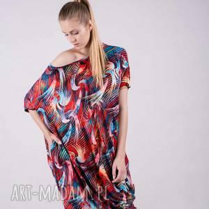 sukienki: Sukienka Summer Wzór Tuba - kardigan