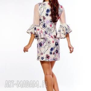 efektowne sukienki elegancka sukienka szerokimi rękawami dora