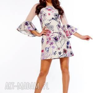 sukienki koktajlowa sukienka szerokimi rękawami dora