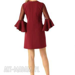 sukienki koktajlowa sukienka szerokimi rękawami
