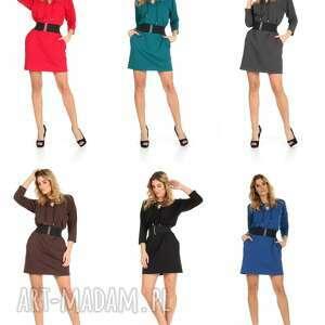 sukienki lalu 46 sukienka sznurowany dekolt