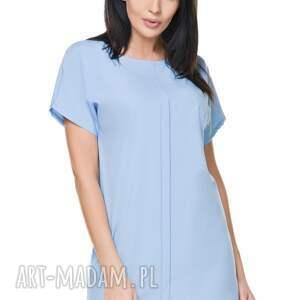 niepowtarzalne sukienki sukienka szyfonowa t166, błękitna