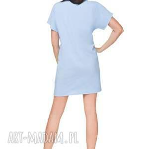 sukienki szyfon sukienka szyfonowa t166, błękitna