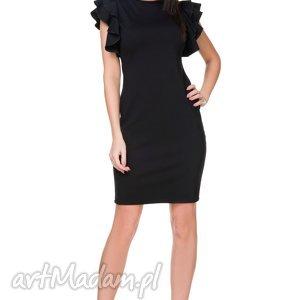 sukienki elegancka sukienka t165, czarna