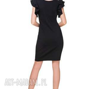 elegancka sukienki sukienka t165, czarna