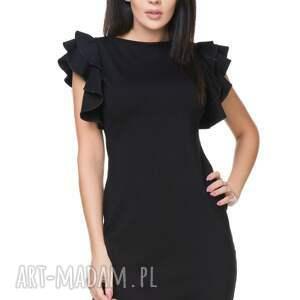modne sukienki sukienka t165, czarna