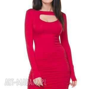 trendy sukienki sukienka t160 z marszczeniami
