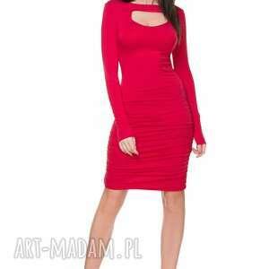 sukienki marszczenia sukienka t160 z marszczeniami
