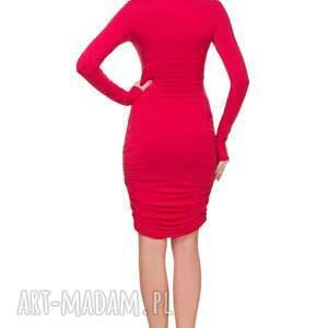marszczenia sukienki sukienka t160 z marszczeniami