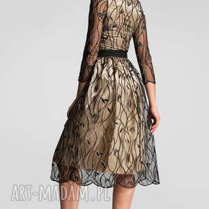 złote sukienki kreacja na sylwestra sukienka tina total midi leokadia