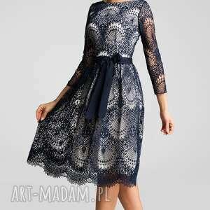 szare sukienki midi sukienka tina 3/4 josefina