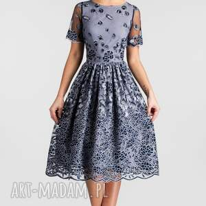 szare sukienki midi sukienka tina arabella