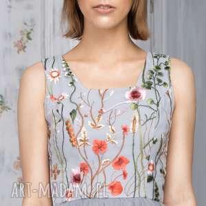 ręcznie zrobione sukienki haftowana sukienka tiulowa z haftowaną