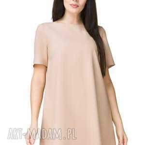 nietuzinkowe sukienki sukienka trapezowa z krótkim