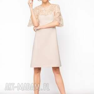 ciekawe sukienki koronkowa-sukienka sukienka trapezowa elena roz. 36