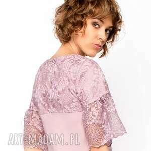 sukienki koronkowa-sukienka sukienka trapezowa z koronką roz