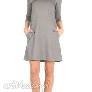 LaLu sukienki Sukienka trapezowa, j.szara, krótka, rozmiar 36