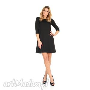 53de706a99 sukienka trapezowa czarna krótka - Hand-Made sukienki