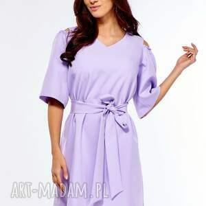 sukienki sukienka oversize trapezowa juliet liliowa