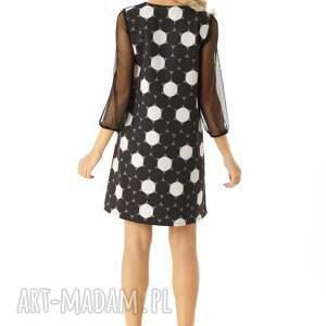 sukienka oversize sukienki trapezowa z tiulowymi