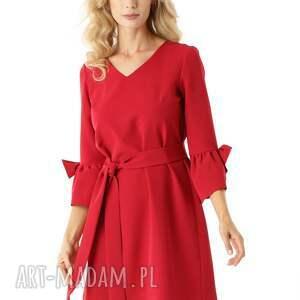 sukienka oversize sukienki trapezowa melody malinowa