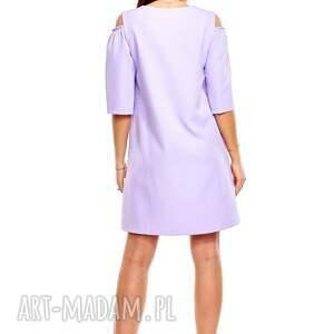 sukienka oversize sukienki trapezowa juliet liliowa