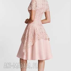 unikatowe sukienki koronkowa sukienka trini midi koronka