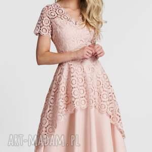 sukienka sukienki trini midi koronka