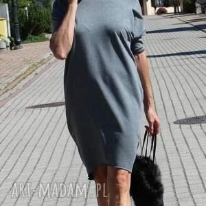 frapujące sukienki sukienka tunika oversize dresowa