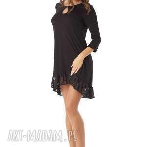frapujące tunika sukienka oversize z koronką