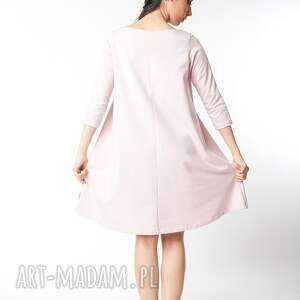 sukienki dzianina l/xl sukienka typu klosz wiosenna