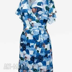 sukienki sukienka w kwiaty z falbanką
