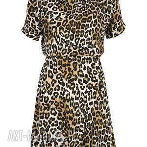 Sukienka w panterkę - midi