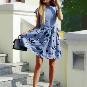 sukienki haftowana-sukienka sukienka w paski haftowane kwiaty