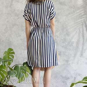 wiskoza sukienki sukienka w paski