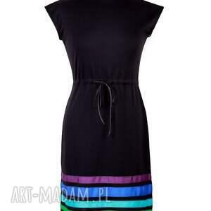 sukienki czarna sukienka w pasy cool