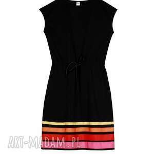 sukienki uniwersalna sukienka w pasy warm