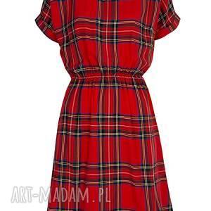 wyjątkowe sukienki sukienka w szkocką kratkę