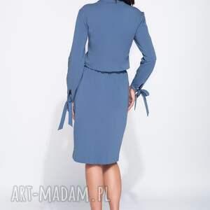 trendy sukienki sportowa sukienka z bawełny z długim rękawem